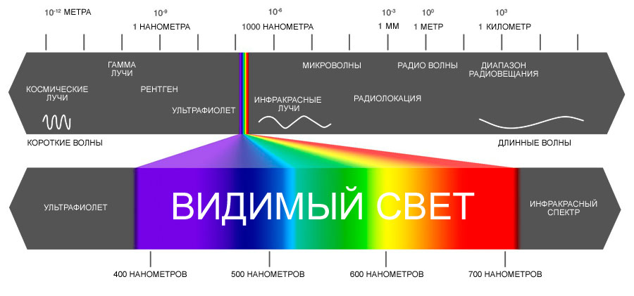 восприятие цвета и света
